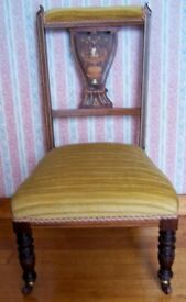 Antique nursing chair . excellent condition. no damage 31 inches high and 12 inches to seat