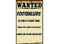 WANTED footballers.