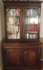 Antique mahogany bookcase in very good condition for age.