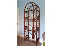 A Fantastic Conservatory High Quality Rattan Display unit with four glass shelves Very unusual