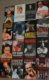 16 TRUE CRIME/HARDMEN BOOKS ALL HARDBACK,,IN GREAT CONDITION,,BUYER COLLECTS