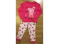 Mothercare Peppa Pig pyjamas NEW (but washed) 3-4 years