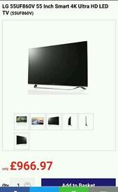 LG UHD 4K HDR TV 860V boxed with warranty.