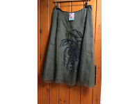 Jigsaw Size 12 Dark Green Skirt NEW with tags