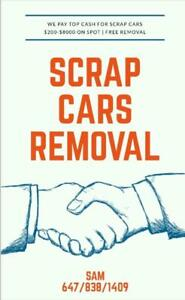 Highest Cash For Scrap Cars Removal | Call 647-838-1409| Best/Freindly service | Available 24/7 Days a week