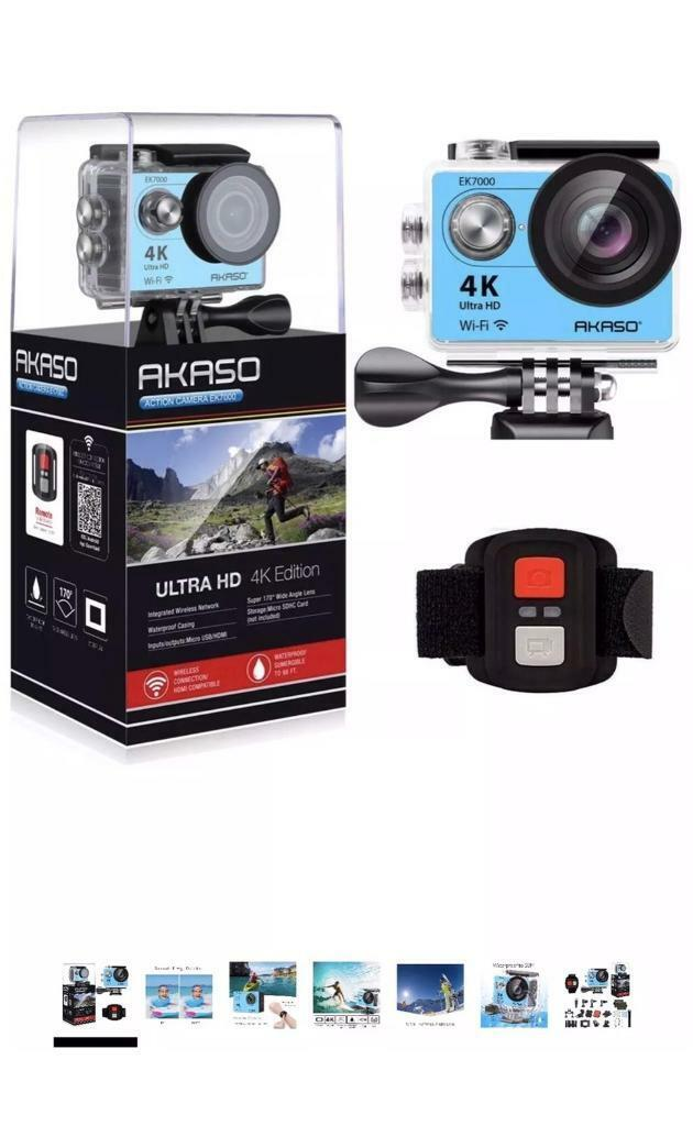 AKASO EK7000 4K Sport Action Camera Ultra HD Camcorder 12MP WiFi Waterproof  Blue brand new boxed | in Uxbridge, London | Gumtree