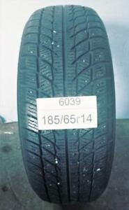 PNEU HIVER USAGÉ / USED WINTER TIRE 185/65R14 18565R14 GOODRIDE SW608 (1 SEUL DE DISPONIBLE)