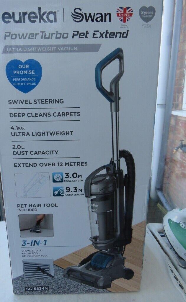 Eureka Swan Ultra Lightweight Vacuum Power Turbo Pet Extend SC15834N   in Quinton, West Midlands   Gumtree