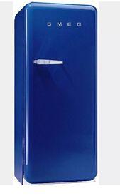 Blue Smeg fridge Fab 28 Can Deliver Nationwide