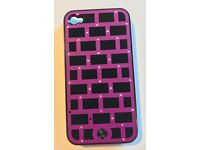 L@@K GORGEOUS!!! BRAND NEW!!! ONLY £10!!! QUALITY!!! iPHONE 4 / 4S Purple / Black Matrix Case BOXED!