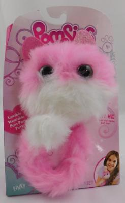 Pomsies Interactive Plush Toy New Pinky Pink White
