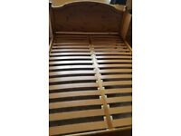 Pine double bed (Ducal Victoria) 4' 6