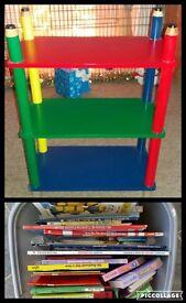 Childrend Pencil Book Shelf And Books