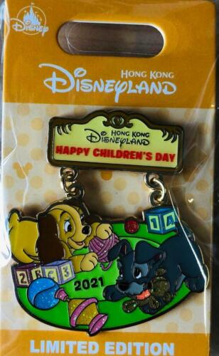 Disney HKDL Happy Children Day Cute Baby Dog Lady and Tramp LE 600 pin(lot set)