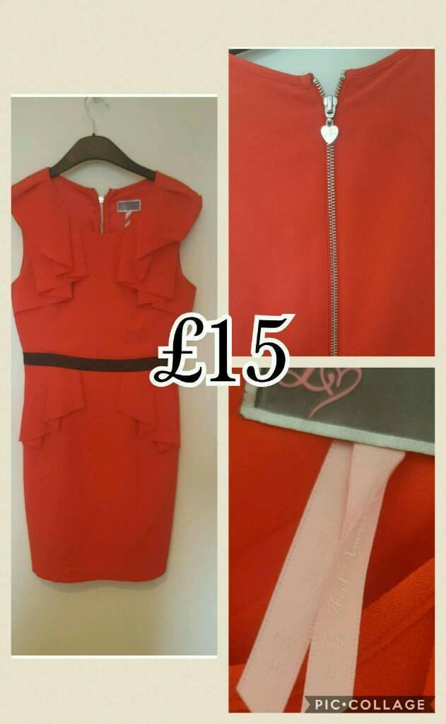 Lipsy Dressin Larbert, FalkirkGumtree - Red Lipsy dress size 10 worn once