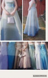 """Stunning! 2 piece prom dress. Skirt high wasted 14"""".Top is corest up the back.Collection only."""