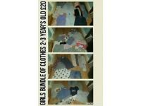 Girls bundle of clothes 2-3 year's
