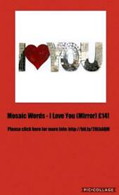 Mosaic Words - I Love You (Mirror)