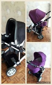 **Mamas &Papas complete travel system. Carrycot, pram and car seat****