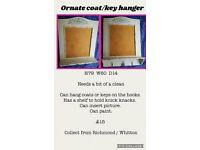 ornate coat rack/shelf