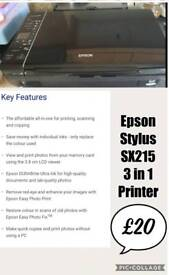 Epson Stylus SX215 3 in 1 printer