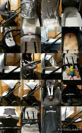 Uppababy vista travel system with maxi cosi car seat and isofix base