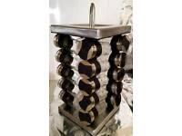 Rotating spice 20 jars storage rack