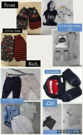 Various boys baby clothes 0-3 monthes