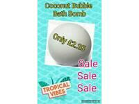 Coconut Bath/Bubble Bomb