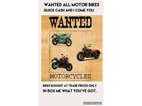 Wanted all motor bikes and scooters