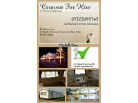 4 bedrooms 10 berth caravan to hire rent Golden Palm resort Chapel st leonards Skegness