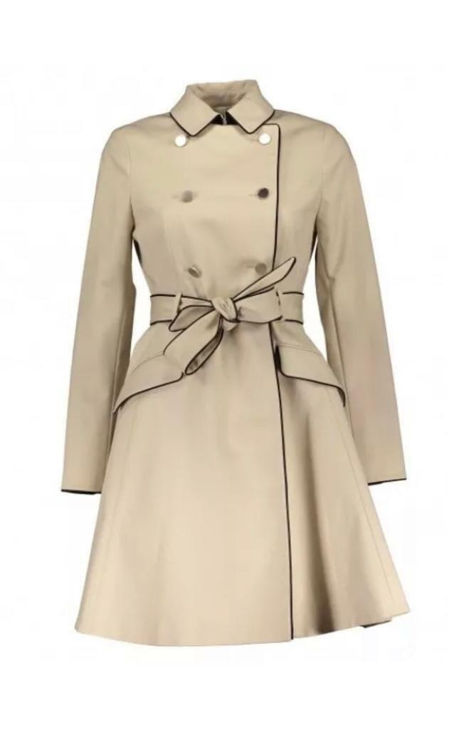 62b786b1d7b6d8 Ted baker double breasted trench coat brand new size 0 (uk 6)
