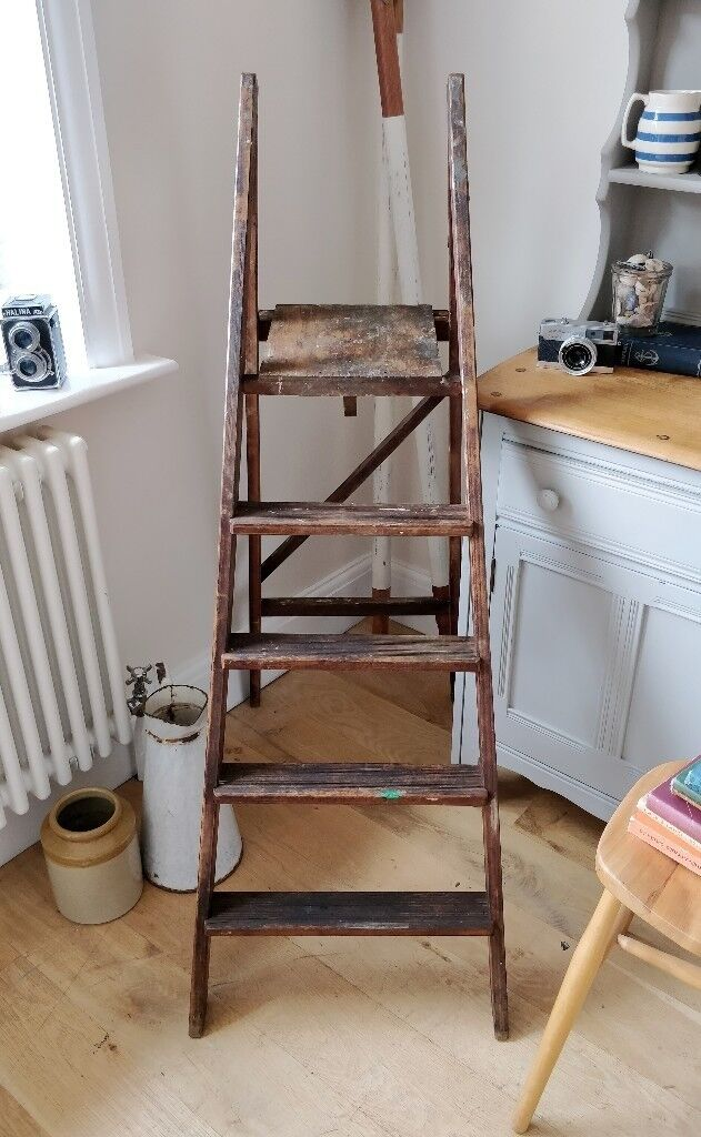 Vintage Wooden Step Ladder Rustic Ladder Shop Decor Ladder Shelves Vintage Decor Shop Display In Lee On The Solent Hampshire Gumtree