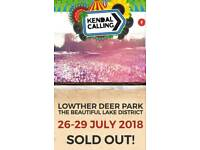 Kendal Calling FULL WEEKEND & EARLY ENTRY TICKET (Thursday-Monday) Inc. Weekend Phone Charging x1
