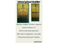 metal plant holder