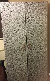 Free wooden cupboard, Marble look exterior, collection asap