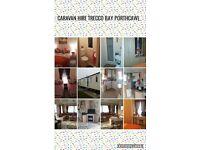 2 bedroom caravan for hire trecco bay porthcawl