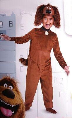 Boys The Secret Life of Pets DUKE Halloween Costume Brown Dog  Toddler 3T 4T NEW