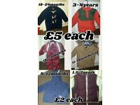 Selection of girls and boys clothing