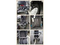 Mothercare travel system push chair carry cot car seat