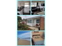 Chalet in Hemsby for hire, sleeps 5, up to two medium sized dogs are welcome
