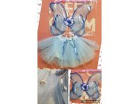 Fairy outfit with blue roses on tutu. Fit age 1.5-4yrs as tutu has elasticated waist. STOTFOLD