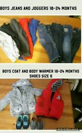 Baby boys bundle of clothes 18-24months