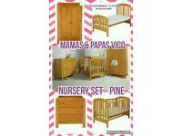 Mamas & Papas Vico Pine Nursery set