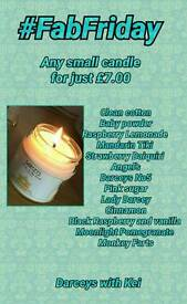 Small soy wax candle