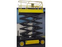 12m Scissor lift / MEWP / Mobile Elevating Work Platform / electric lift (similar to cherry picker)