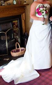 STUNNING IVORY WEDDING DRESS SIZE 18/20
