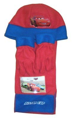 Neu Disney Cars Kinder Wooley Hut Schal & Handschuh Winter Set 3-teiliges Set (Disney Princess Kind Handschuhe)