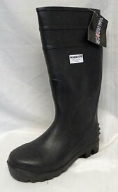Black Heavy Duty PVC Safety Wellingtons SIZE 5 Only £2 Pair BOOT SALE SPECIAL Collect B63 3SW