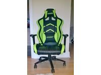 AKRACING Gaming Chair in Green - As new condition, from smoke and pet free house.
